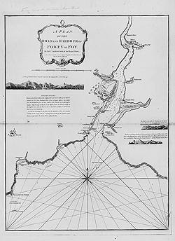 A Plan of the Road and Harbour of Fowey or Foy